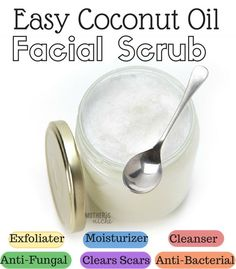 DIY 2-ingredient Coconut Oil Facial scrub. You will never go back!