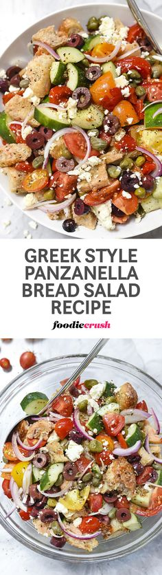 This simple Tuscan bread salad gets a Mediterranean makeover with the addition…