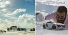 Audi asked this guy to photograph their R8, so he bought a $40 toy and shot that instead!