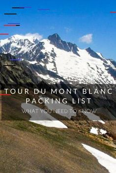 Tour du Mont Blanc Packing List: What You Need to BringYou can find Mont blanc and more on our website.Tour du Mont Blanc Packing List: What You Need to Bring Hiking Europe, Hiking Gear, Hiking Norway, Hiking Trips, Hiking Backpack, Camping Gear, Mont Blanc Trail, Mt Blanc, Backpacking Packing List