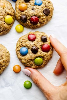 These thick and chewy monster cookies are the ultimate cookie recipe! Made with healthier ingredients, GF + DF friendly, and are SO GOOD. Chewy Peanut Butter Cookies, Gluten Free Peanut Butter, Creamy Peanut Butter, Chocolate Chip Cookies, Oatmeal Cookies, Chocolate Chips, Sugar Cookies, Ultimate Cookie Recipe, Best Homemade Cookie Recipe