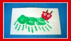 Colorful Very Hungry Caterpillar Craft For Kids! Here's a Very
