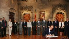 BBC 27 September 2014. Artur Mas signed the decree in a short and symbolic ceremony.The president of the Spanish region of Catalonia has signed a decree calling for a referendum on independence.  Artur Mas wants Catalonia to hold a Scottish-style vote on 9 November, but does not have the backing of the central government in Madrid. Catalonia, which includes Barcelona, is one of Spain's richest and most highly industrialised regions, and also one of the most independent-minded.