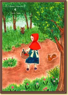 franche lippee's little red riding hood postcard