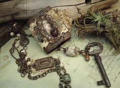 Altered Alchemy: book necklace.