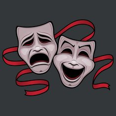 Comedy And Tragedy Theater Masks - NeatoShop