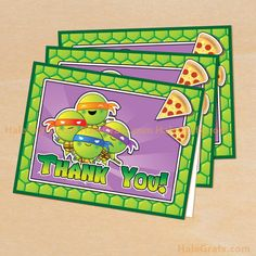 Printable Teenage Mutant Ninja Turtles Inspired Thank You Card