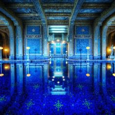 *Indoor Swimming, Under the Castle* This is my favorite swimming pool in the world. and the trip to Hearst Castle is worth it just to see this! Indoor Pools, Amazing Swimming Pools, Swimming Pool Designs, Awesome Pools, Lac Michigan, Images Google, Bing Images, Roman Pool, San Simeon