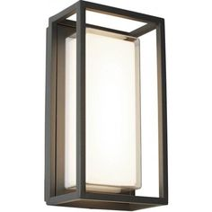 3831GY Ohio Outdoor Led Rectangle Dark Grey Opal White/clear Diffuser Wall Bracket/flush