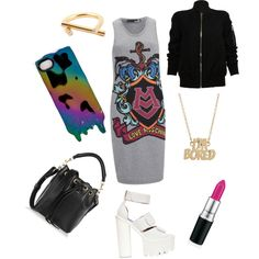 Untitled #18 by raphybunea on Polyvore featuring polyvore, fashion, style, Love Moschino, Rick Owens, Jeffrey Campbell, Yves Saint Laurent, Kelly Wearstler and MARC BY MARC JACOBS