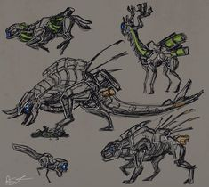 0505 by on DeviantArt Animal Robot, Horizon Zero Dawn Aloy, The Adventure Zone, Game Concept Art, Sci Fi Art, Character Design Inspiration, Funny Games, Animal Drawings, Game Art
