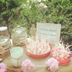 Love is Sweet Dessert Bar at Bridal Shower