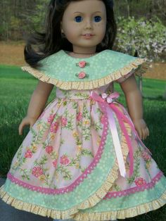 Any 5 PDF Sewing Patterns for American Girl Dolls by Farmcookies by VTQuilterKaren Sewing Doll Clothes, Girl Doll Clothes, Barbie Clothes, Girl Dolls, Ag Dolls, American Girl Crafts, American Doll Clothes, American Dolls, Doll Dress Patterns