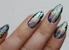Black holo nails