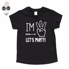 "Your little boy is turning three years old! Let him celebrate in style with this playful and funny t-shirt created just for him. Featuring the phrase, ""I'm 3, l"