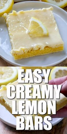 EASY CREAM CHEESE LEMON BARS is part of Lemon cream cheese bars These Cream Cheese Lemon Bars are made with a boxed lemon cake mix topped with a sweet cream cheese and lemon zest flavored layer - 13 Desserts, Lemon Desserts, Lemon Recipes, Baking Recipes, Delicious Desserts, Sweet Recipes, Lemon Curd Dessert, Spanish Desserts, Filipino Desserts