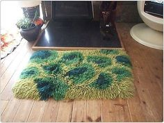 #Retro vintage 60s 70s #handmade shag pile #psychedelic abstract shaggy wool rug ,  View more on the LINK: http://www.zeppy.io/product/gb/2/282239446153/