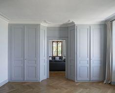 Soft grey interior - The Manor, Hermance - Valentine Bärg Architectures