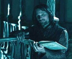 Aragorn, just reading his book.
