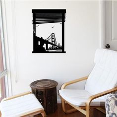 Window to San Francisco Wall Art Stickers by Cool Art Vinyl