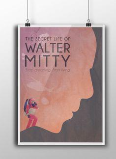 The Secret Life of Walter Mitty #graphicdesign #poster #thesecretlifeofwaltermitty #wanderlust #benstiller
