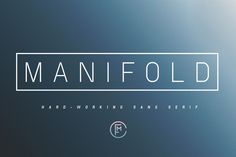 Check out Manifold CF font ($10 SALE) by Connary Fagen Type Shop on Creative Market