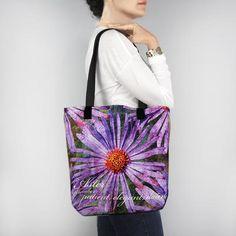 Birthday Blossom Tote Bag - September Aster