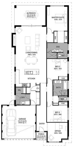 Ideas stairs design exterior floor plans for 2019 Cottage Floor Plans, Small House Plans, House Floor Plans, The Plan, How To Plan, House Stairs, Facade House, Graphisches Design, House Design