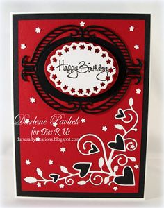 Dar's Crafty Creations: Dies R Us ... Red, White & Black
