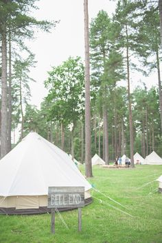 Bell Tents Camping Quirky Natural Woodland Wedding http://lisahowardphotography.co.uk/