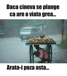 Dacă cineva se plânge că are o viață grea, arată-i asta! Blessed Is She, Strong Words, Worlds Of Fun, True Words, Quote Of The Day, Humor, Feelings, Memes, Instagram Posts