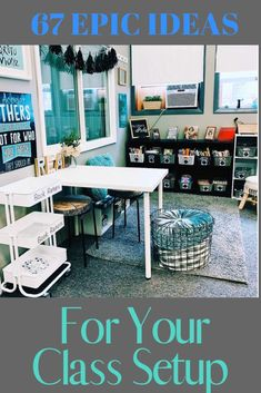 The 67 best classroom setup ideas to get your class ready for back to school including how to label your teacher toolbox, get organized, and tips and inspiration to create an amazing space for you and your students. Preschool Classroom Decor, Classroom Setup, Kindergarten Classroom, Classroom Organization, Learning Methods, Fun Learning, School Fun, Back To School, Teacher Cart