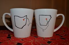 Last Minute DIY Christmas Gift - Distance Mugs