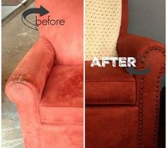 DIY Projects For Home Decorating: From GROSS to GRAND. Arm Chair Makeover