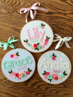8 FELT NAME with FLOWERS Personalized Girl's by MissTweedleCrafts