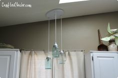 DIY Mason jar pendant light from Crafted Niche, gorgeous :)