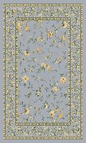 Pastiche with Stainmaster Hampshire Storm Floral Nylon Blue and Yellow Area Rug