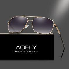 2c508fd84f1 Luxury Polaroid Sun glasses for Men Coating Lens Double Bridge Goggle.  AOFLY Men s Polarized Sunglasses Fashion Brand Designer ...