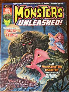 Monsters Unleashed! Magazine April 1974. Cover art by Bob Larkin