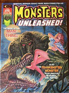 Monsters Unleashed! Magazine April 1974. Cover art by Bob Larkin