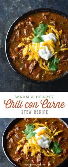 Chili Con Carne Recipe | shewearsmanyhats.com