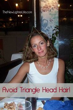 As someone with very curly thick hair, triangle hair is always something I need to avoid... Great tips on how short layers are essential for curly hair.