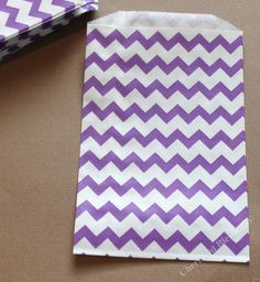 Wedding Chevron Favor Bags 20 Purple Candy by CherishedBlessings