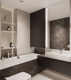 Two bathroom design ideas Bathroom Design Inspiration, Design Ideas, Mirror, Behance, Interior, Furniture, Bedroom, Home Decor, Behavior