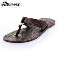 Killer loop horse 2013 flip flops shoes male cowhide slippers summer slippers sandals $55.83