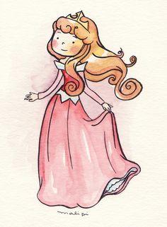 As Princesas Disney por Malipi Disney Pixar, Disney Fan Art, Disney Magic, Disney Movies, Disney Characters, Disney Princesses, Kawaii Disney, Cute Disney, Adventure Time Anime