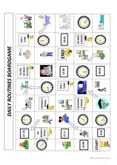 Optimus 5 Search - Image - daily routine for esl students Daily Routine Worksheet, Daily Routine Activities, Daily Routines, English Verbs, English Class, English Teachers, Learning Spanish For Kids, Learn Spanish, Visual Schedule Autism