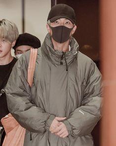 Namjoon airport aesthetic Namjoon, Raincoat, Bts, Jackets, Rain Jacket, Down Jackets, Jacket