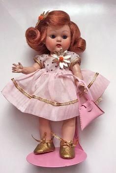 """VOGUE Strung Ginny Doll """"Pat"""" #31, (1952) from the Kindergarten Series~Precious~ #Vogue #VogueGinnyDollPat1952:"""
