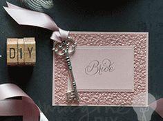 DIY wedding place card blush pink pebble paper